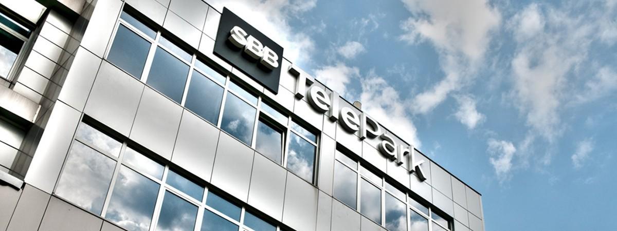 SBB TelePark - znak na zgradi